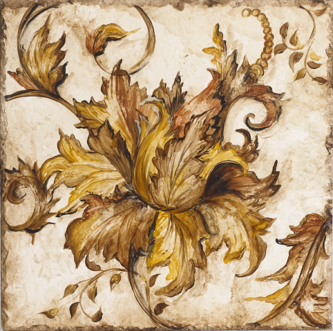 Home Design on Baroque Floral Scroll I Wall Plaque