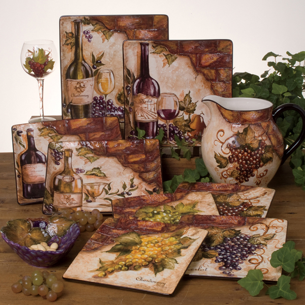 Cheap Kitchen Decor Sets: Tre Sorelle Home Designs Hand-Painted Stone Tile Murals