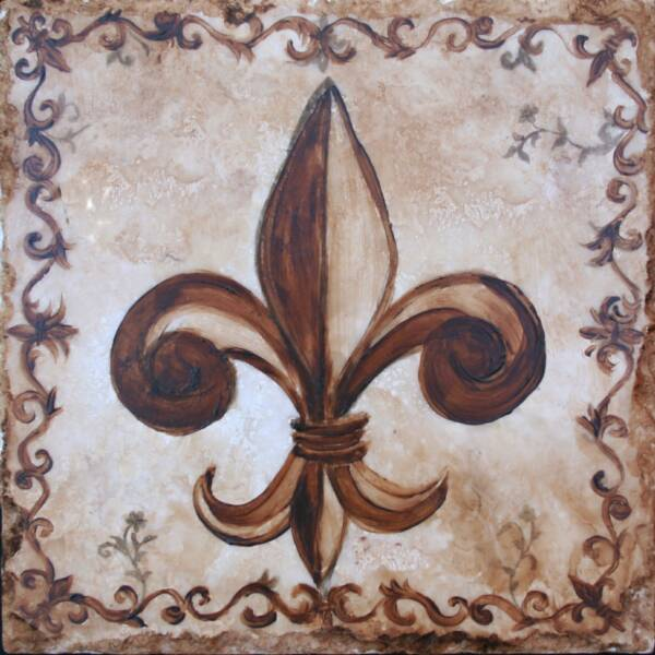 decorative stone tile inserts hand painted - Decorative Tile