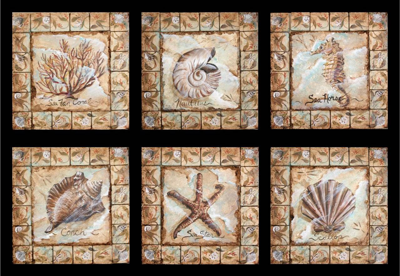 Hand painted decorative tile inserts for Teli decorativi