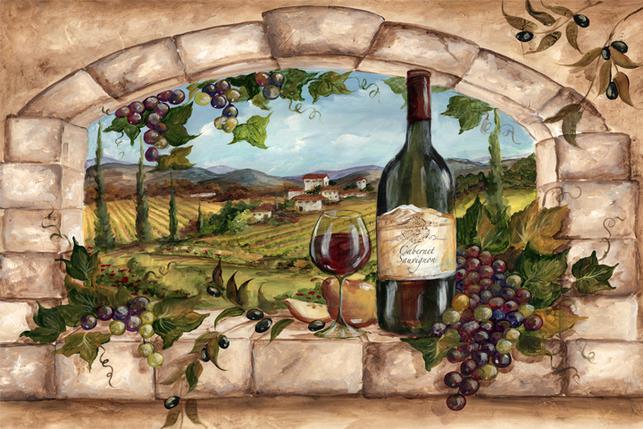 Tuscan Vineyard Tile Murals