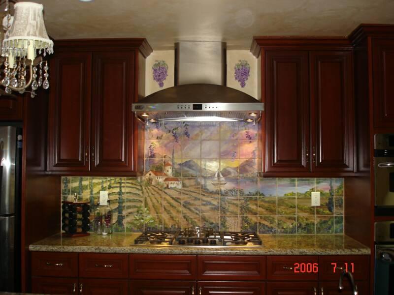 Surprising Tre Sorelle Hand Painted Tile Mural Installations Download Free Architecture Designs Xoliawazosbritishbridgeorg