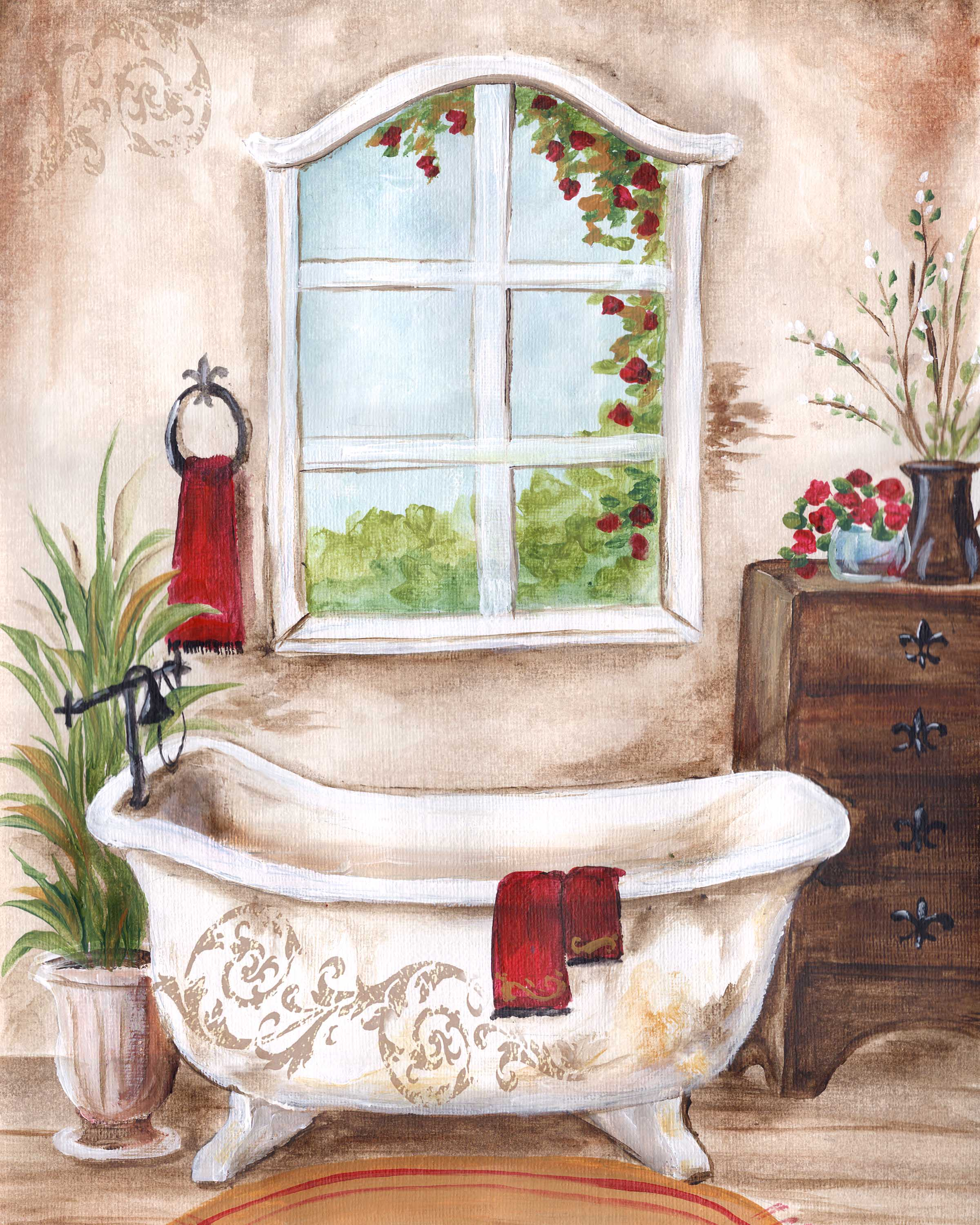 Small French Country Bathroom Top Pictures Gallery